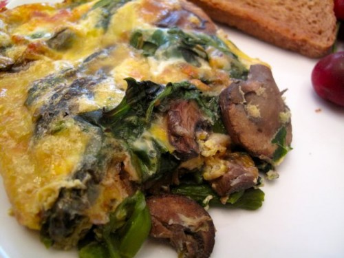 Asparagus, Mushroom And Goat Cheese Egg Breakfast ...
