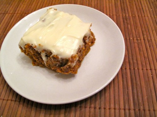 Pumpkin Spice Cake with Cream Cheese Icing | Health for the Whole Self