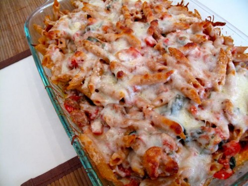 Baked Pasta with Chicken Sausage   Health for the Whole Self