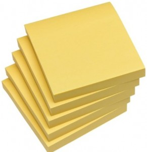 The yellow post it note health for the whole self